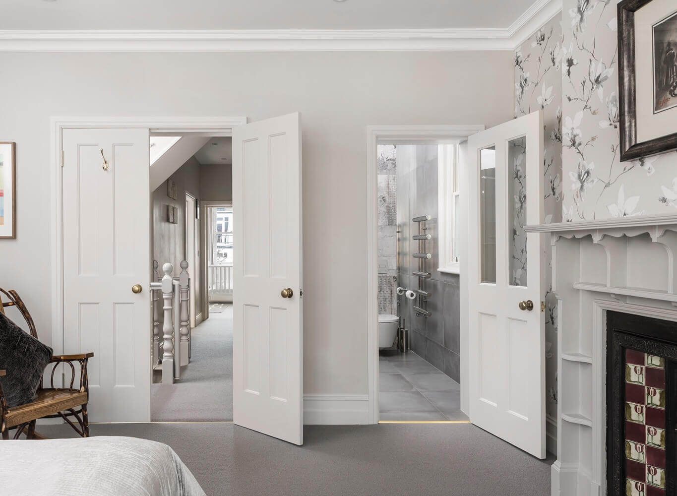 Bedroom twin doors