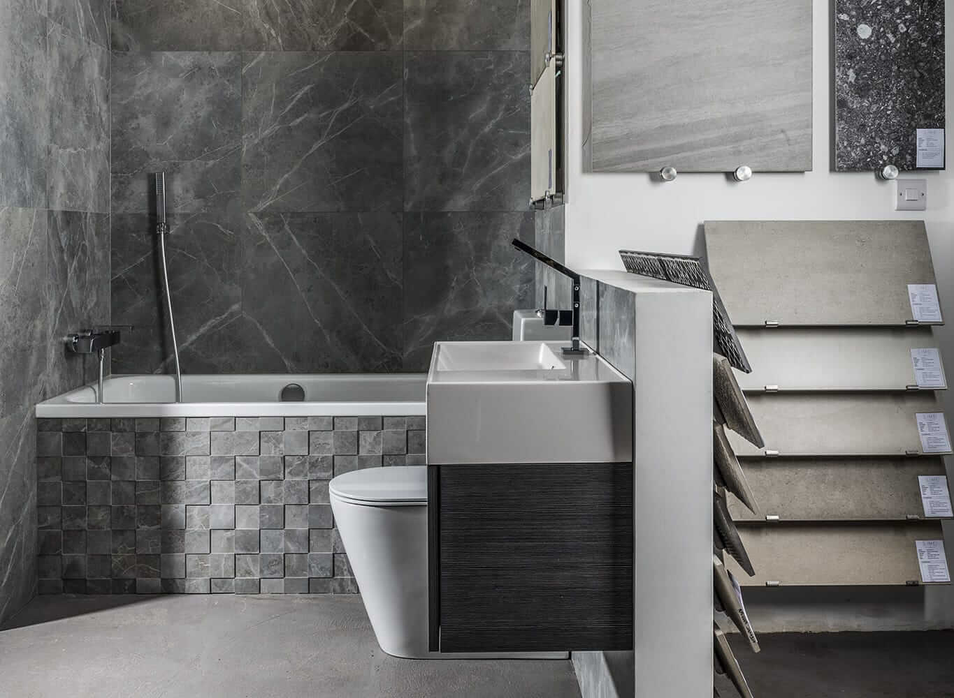 Stone material bathroom stand