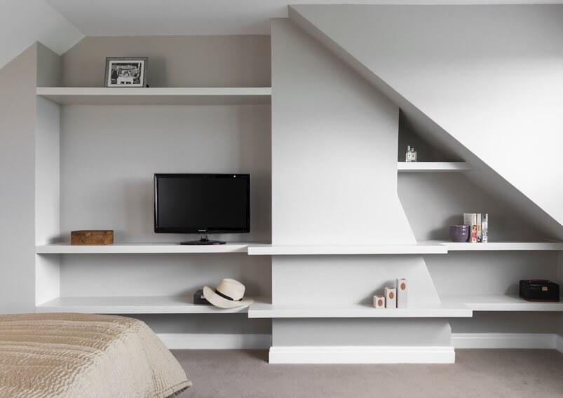 Wall shelves TV