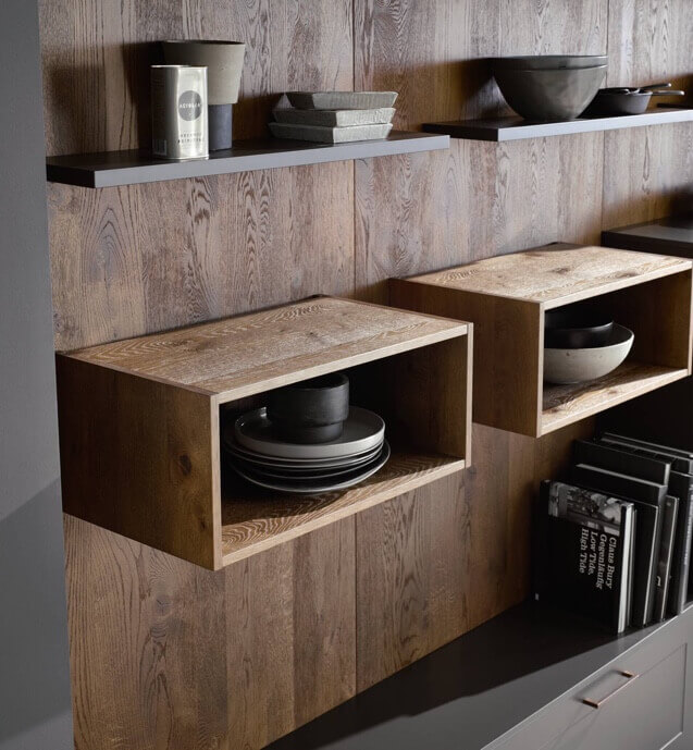 Shelves with the plates